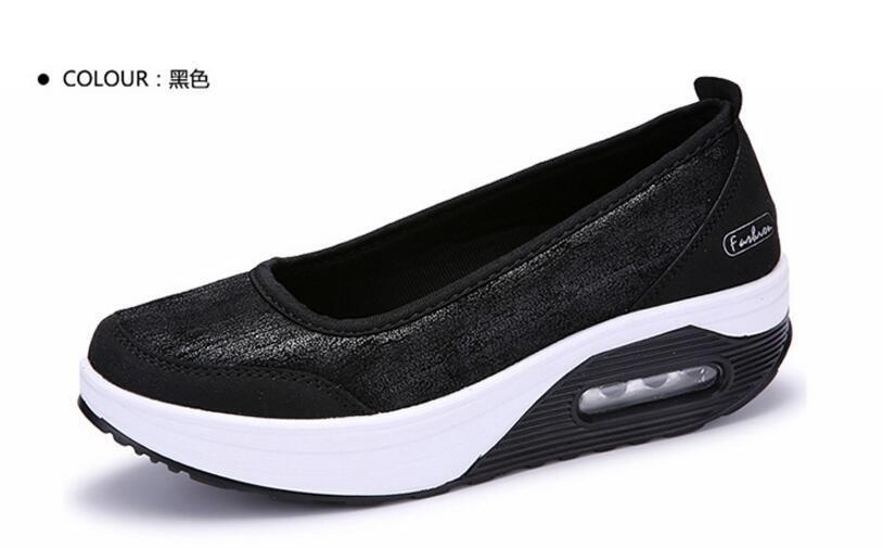 Frauen-flache Plattform-Schuh-Frauen-Mokassin zapatos mujer Frauen-Plattform-Beleg an für Damen beschuht zufällige Ebenen Mokassins