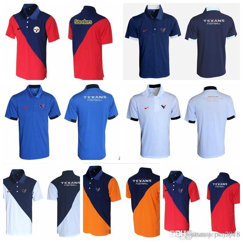 separation shoes 441c8 d97b8 Promotion 2018 Men's New Rugby T-shirt Houston Texans Pittsburgh Steelers  Bills Minnesota Vikings Evergreen Polo Various styles and col