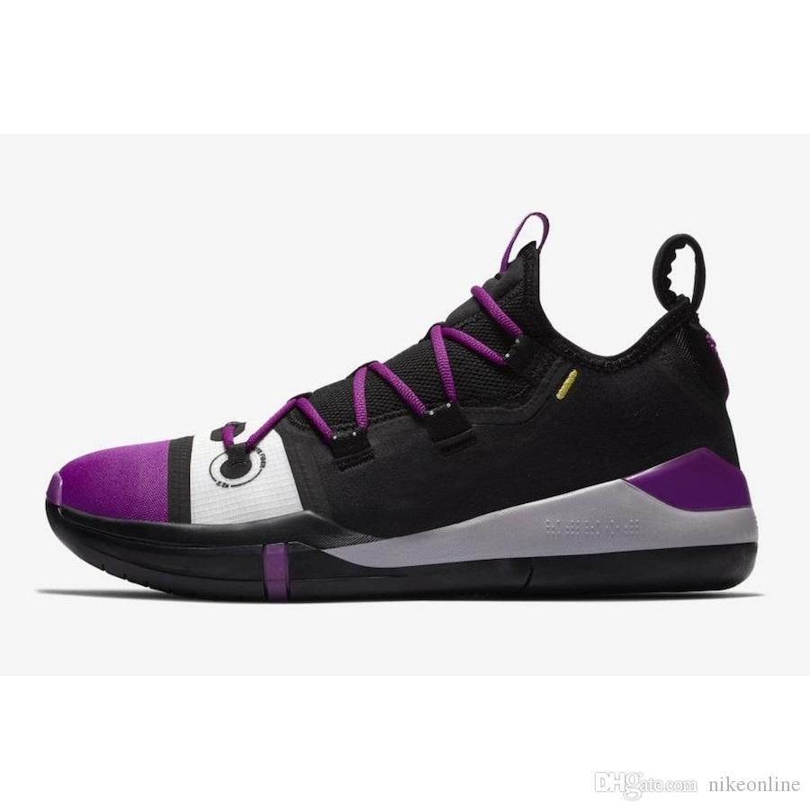 best website c526b 21cf7 2019 Men Kobe AD Basketball Shoes Tour Yellow Strike Purple Black New  Colors KB 12 Xii Elite Nxt 360 Low Cut Sneakers Tennis Swith Box For Sale  From ...