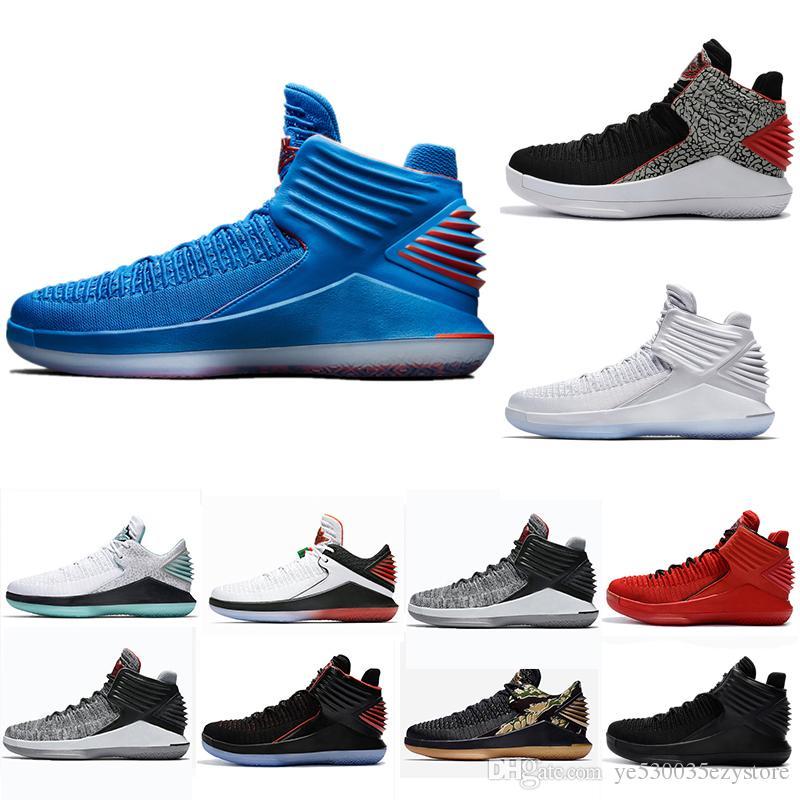 35dc1bf03ae Compre Nike Air Jordan Aj32 Chegada Nova Barato 32 UNC Mens Tênis De Basquete  XXXII North Carolina Azul Mármore Cinza Chicago Banido 32 S Tênis Tamanho  40 ...