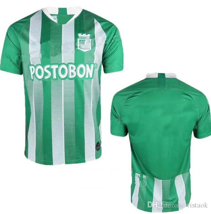 2018 2019 Atlético Nacional Colombia Fútbol Futbol De Medellín Camiseta  Camiseta Postobon 02 Camiseta De Manga Corta Hipster O Cuello Casual Por  Vistaok 2e707f44a4701