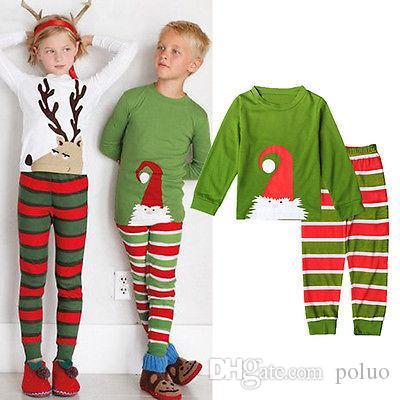 45e687254488 Children Sets Winter Chrismas Kids Baby Boy Girl Santa Claus ...
