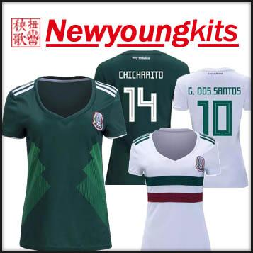 dc4444fa7 2018 World Cup Mexico Home Women Jersey Away White Football Uniforms ...