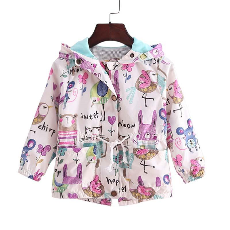 3470170684da 2018 New Spring Baby Coat And Jacket For Girl Cartoon Graffiti ...