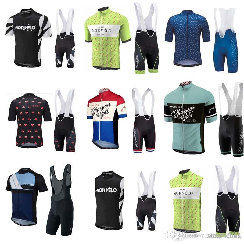 6262dee76 Brand New 2018 Morvelo Cycling Jerseys MTB Ropa Ciclismo With Gel Padded  Bib Shorts Sets Bike Wear Bicycle Clothing C0730 Baggy Cycling Shorts Cycle  ...