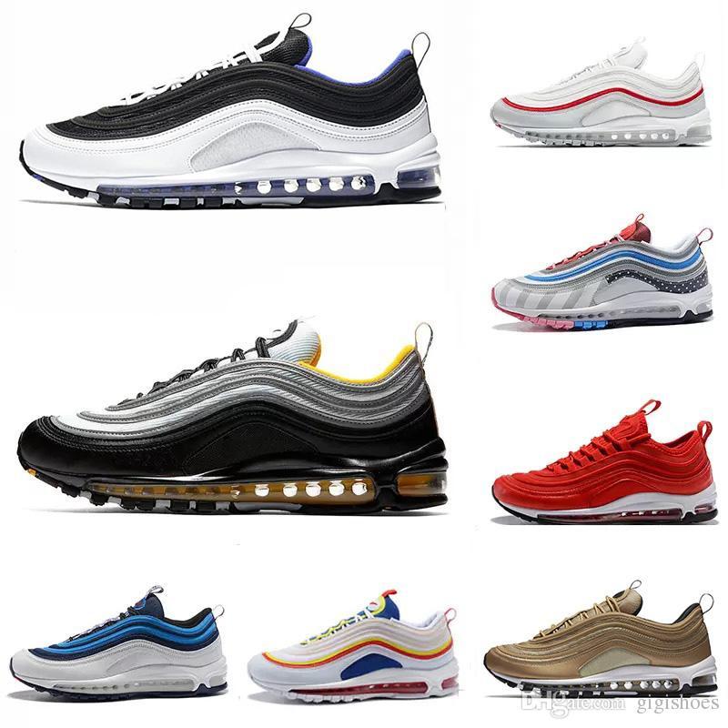 mit Box 97 Schuhe Triple weiß schwarz rosa Laufschuhe Og Metallic Gold Silver Bullet Herren Sneakers Damen Sportschuhe Sneaker Größe 36 45