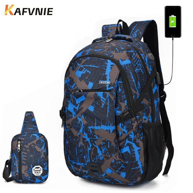 2 IN1 School Backpack Male Backpack Chest Bag Set Boys One Shoulder Big  Student Multi Piec Bag Men Women Camouflage Rolling Backpack Gym Bags For  Men From ... 545d4ffa38