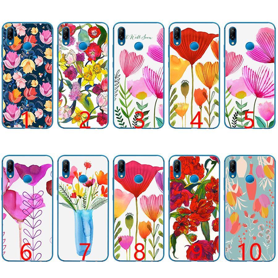 2587137119c Diseños Para Fundas De Celular Patrón De Flores Tulipanes Funda De Teléfono  De Silicona Suave TPU Para Huawei Honor 7A Pro 6A 7X 8 Lite 9 Lite 10 Fundas  ...