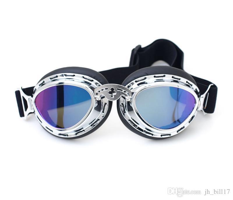 New Vintage style Harley Motorradbrille Windproof Brille für Motocross Radfahren Moto Sportbrille Aviator Pilot Cruiser