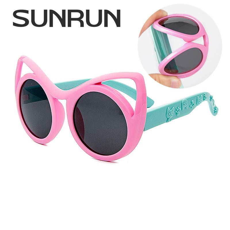 066d0980b5 Compre Venta Al Por Mayor Moda Cat Eye Niños Gafas De Sol Niños Niñas Cool  Polarized Gafas De Sol Niños Gafas UV400 Protección Con El Caso S8122 A  $19.64 ...