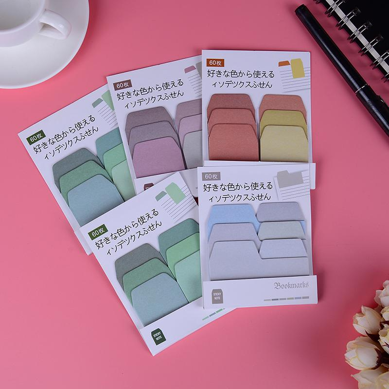 60 Pages/lot Notes Bookmarks Stationery Student Supplies Cute Sticker  Bookmark Marker Flags Sticky Memo Pad