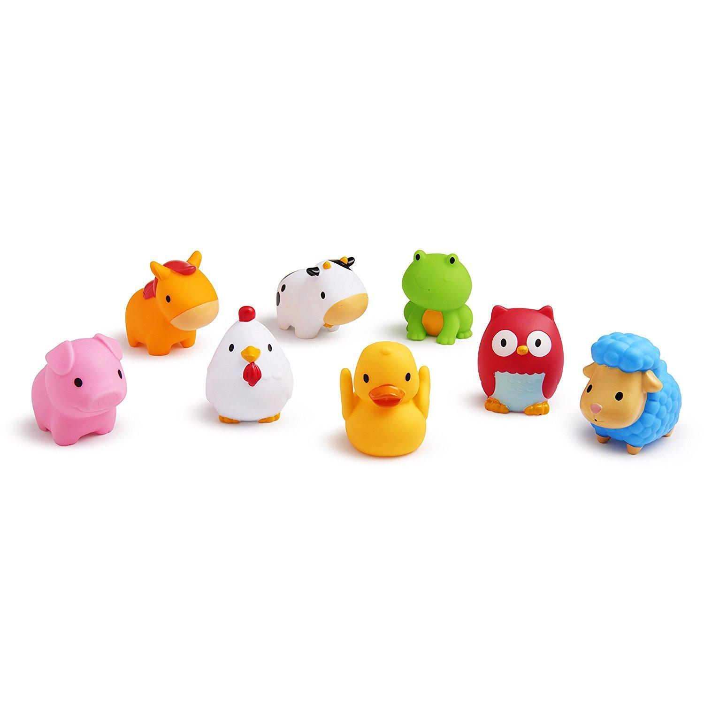 2018 Munchkin Fun Fun Farm Animal Bath Toys 4 Loaded Mk43882 Munch ...