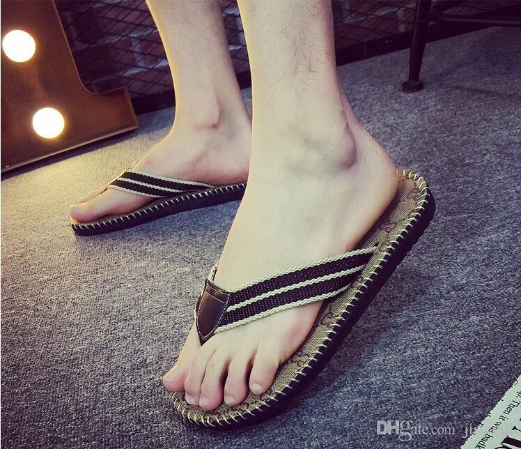 G Family Men's Flip Flops Designer Slippers Luxury Brand Beach Flat Slides for Men Casual Shoes