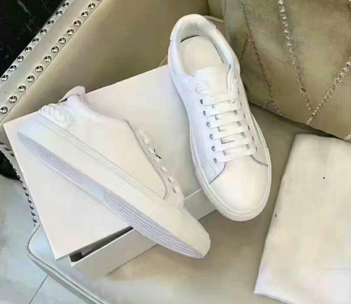 Cuir Tennis Confort Hommes Plat Décontractées Femmes À Habillées Luxe Blanc Designer Chaussures De En QxBeWrdCo