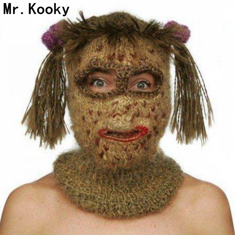 Mr.Kooky Crochet Kooky Mask Beanies Men S Women S Hats Funny Halloween  Handmade Knitted Balaclava Birthday Xmas Gag Party Gifts UK 2019 From  Shinny33 783d8af357a