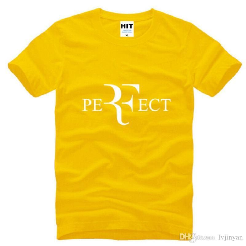 New Roger Federer RF Tennis T Shirts Men Cotton Short Sleeve Perfect Printed Mens T-Shirt Fashion Male Sport Onersized Tees