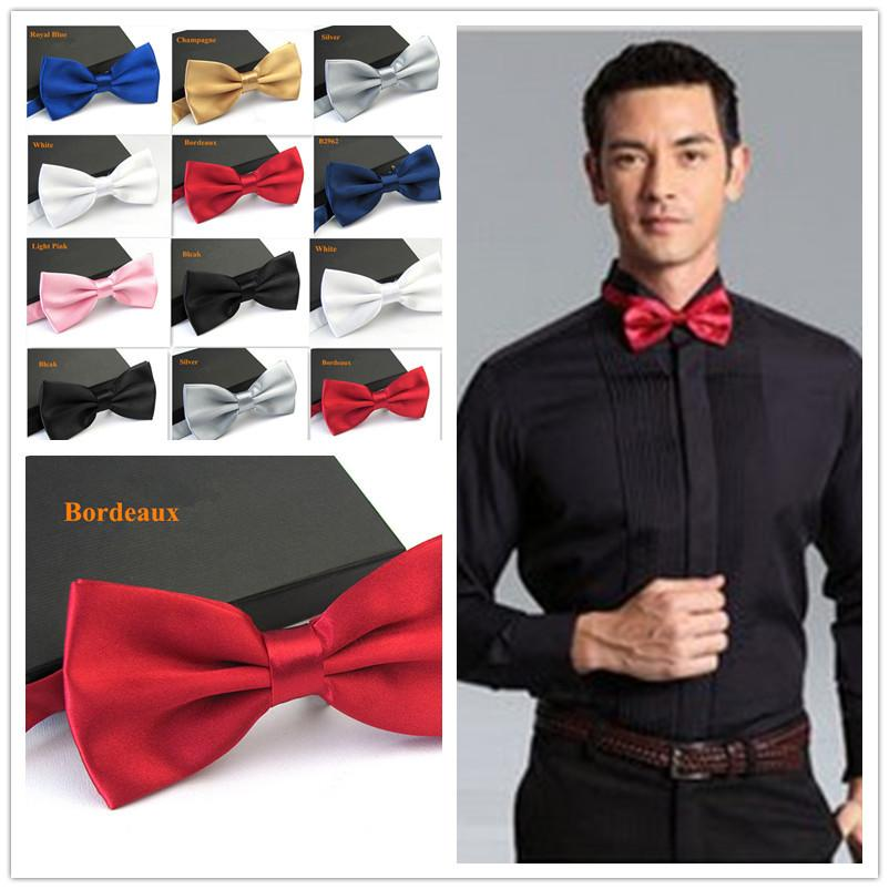 622f41c087f7 Men's Fashion Tuxedo Bowtie Butterfly Bow ties for Men Wedding Party  Bordeaus/Black/White/Silver/Champagne/Navy Blue/Pink/Blue