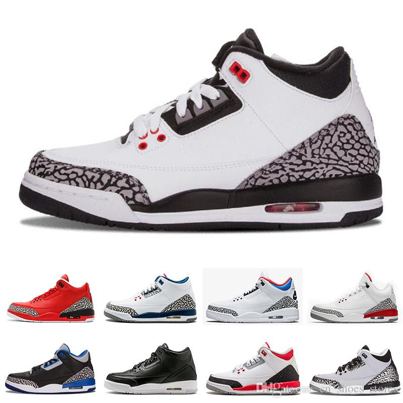 cheap for discount 3f010 5e4f3 Classic 3 Men Basketball Shoes Black Cement White Infrared Cyber Monday  Fire Red Sport Sneakers Athletics Trainers designer shoes