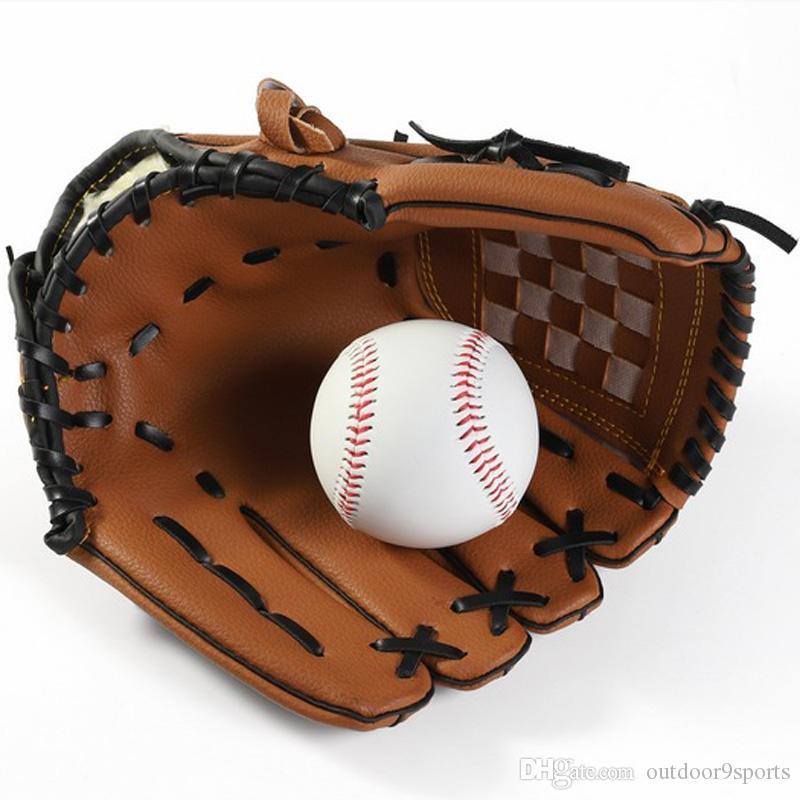 New Outdoor Sports Brown Baseball Glove Softball Practice Equipment Single Hand Gloves Thicker Pitcher Softball Gloves