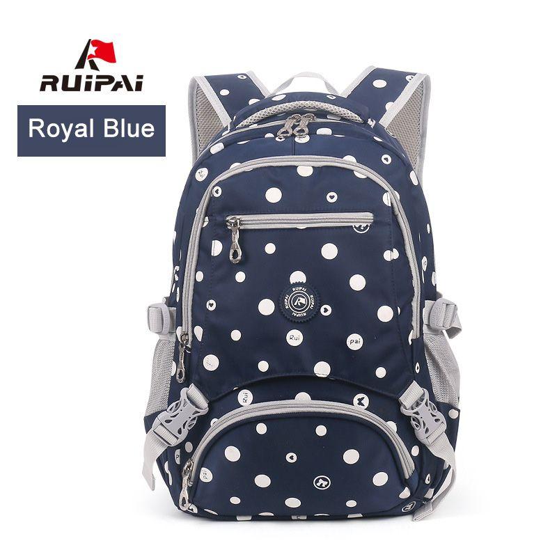 249f3838aa RUIPAI School Backpacks For Girls Dot Printed School Bags Schoolbag Satchel  Kid Baby S Bags Student Large Capacity Rucksack Discount School Backpacks  ...