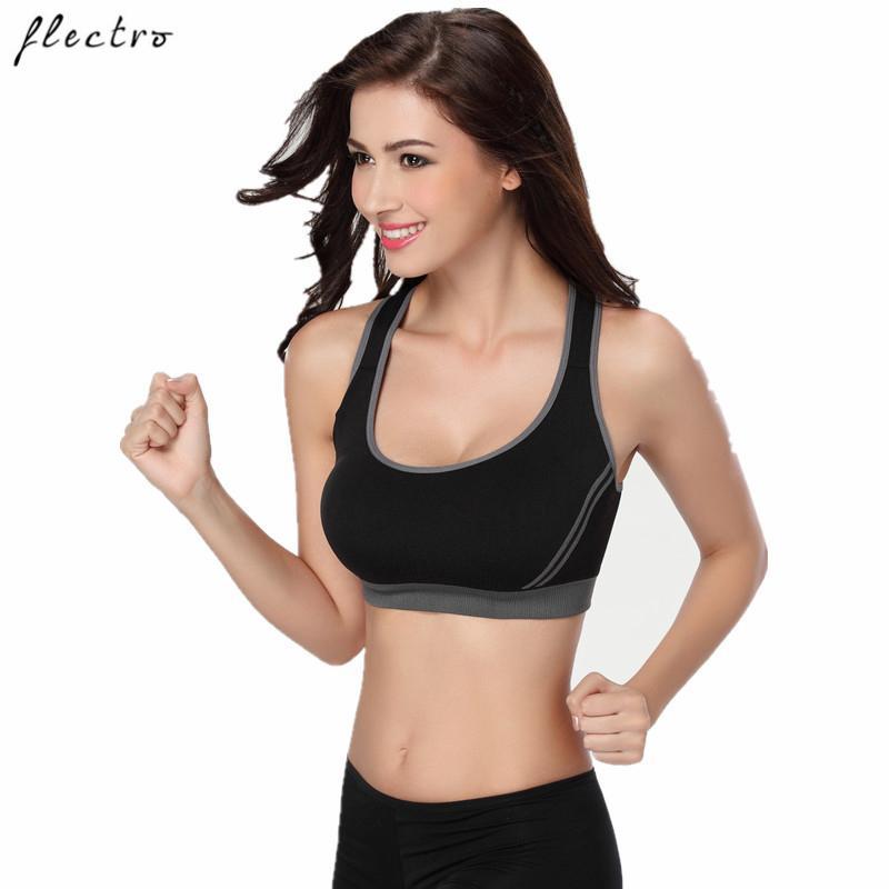 Push L006 Up Femmes Courir Fitness Sans Rose Yoga Sport Noir Gorge Flectro Sous Vêtements Sexy Soutien Couture Sports 8PwnO0k