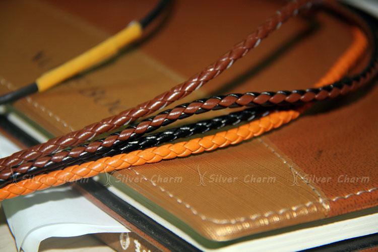 Prata Charm Black Leather Wrap Pulseira para As Mulheres Cinco Cores Ímã Fecho de Presente de Natal Jóias PI0311
