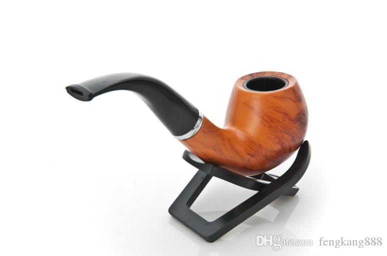 통나무, 수 지, 파이프, 담배, 금연 세트, 선물 상자, 긴 150MM 필터 마우스 피스.