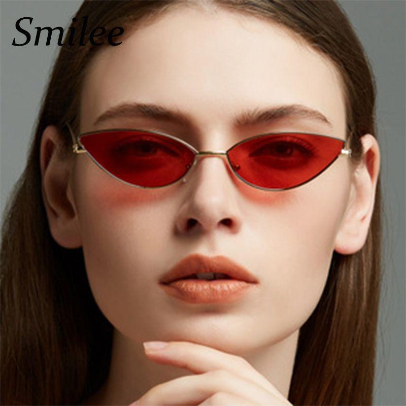 b35ea97c537 Cute Sexy Cat Eye Sunglasses Female 2018 Summer Retro Small Frame Black Red  Cat Eye Sun Glasses For Women UV400 Serengeti Sunglasses Sun Glasses From  ...