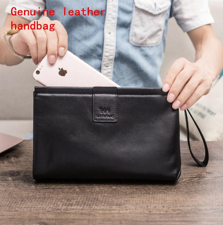f02560ec53a Factory Brand Men Bag Simple Leather Business Handbag Fashionable Head  Layer Cowboy Men Wallet Soft Leather Large Capacity Envelope Bag Ivanka  Trump ...