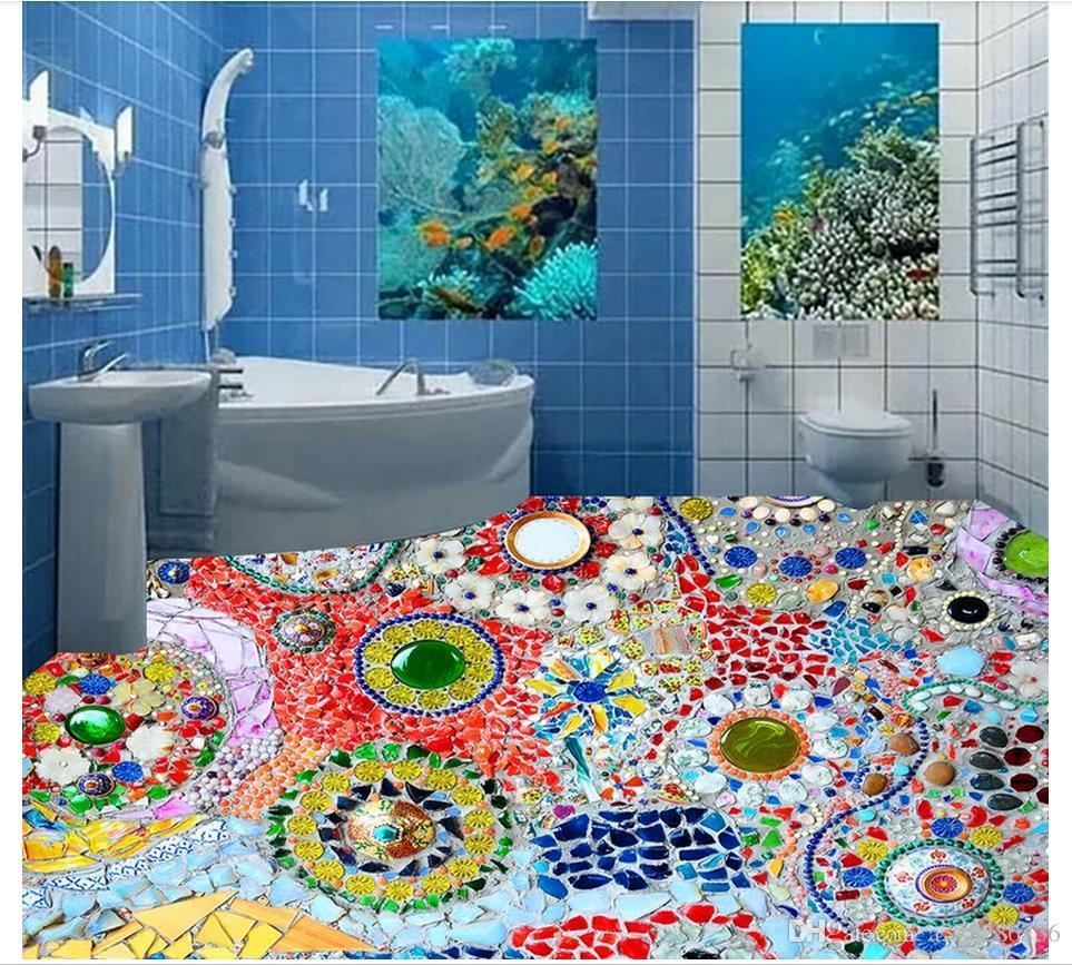 Customized 3D PVC Wallpaper Floor Painting Wall Paper Waterproof ...