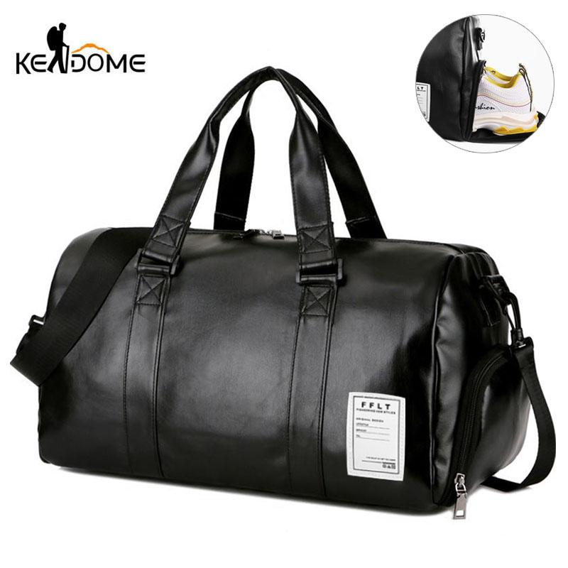 2019 Gym Bag Leather Sports Bags Big MenTraining Tas For Shoes Lady Fitness  Yoga Travel Luggage Shoulder Black Sac De Sport XA512WD From Fwuyun