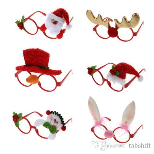 New Christmas Frame Glasses Ornaments Adult Kids Sunglass Eyeglass Costume Eye Frame Xmas Gifts Party Decoration New Year