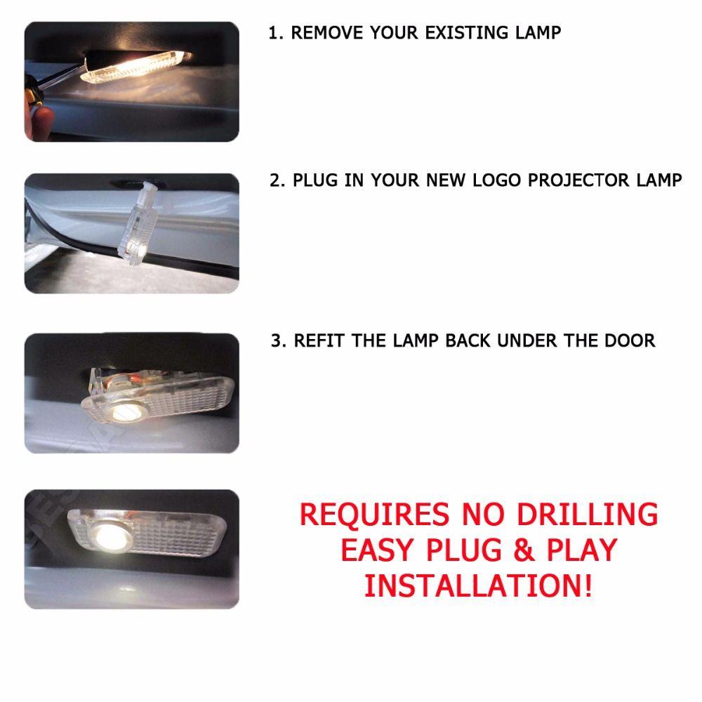 porte de voiture bienvenue lumière laser porte de voiture ombre projecteur logo lumière LED pour AUDI A3 b6 b8 A5 A6 c5 A7 A8 R8 Q5 Q7