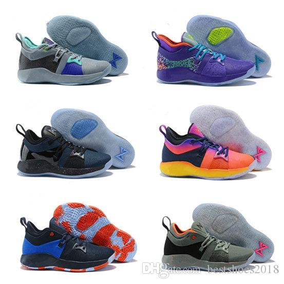 62cd8d6a11f Big Kids PG 2 Basketball Shoes Hig Quality Paul George PG 2s Black And Blue  Orange Athletic Shoes Children Shoes Free Running Shoes For Kids From ...