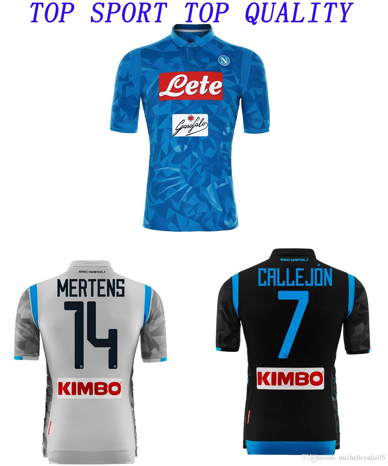 18 19 Napoli Soccer Jersey 2018 2019 Naples ZIELINSKI HAMSIK INSIGNE  MERTENS CALLEJON Football Shirts Mens Top Thai Quality Sports Wears UK 2019  From ... f9836c266