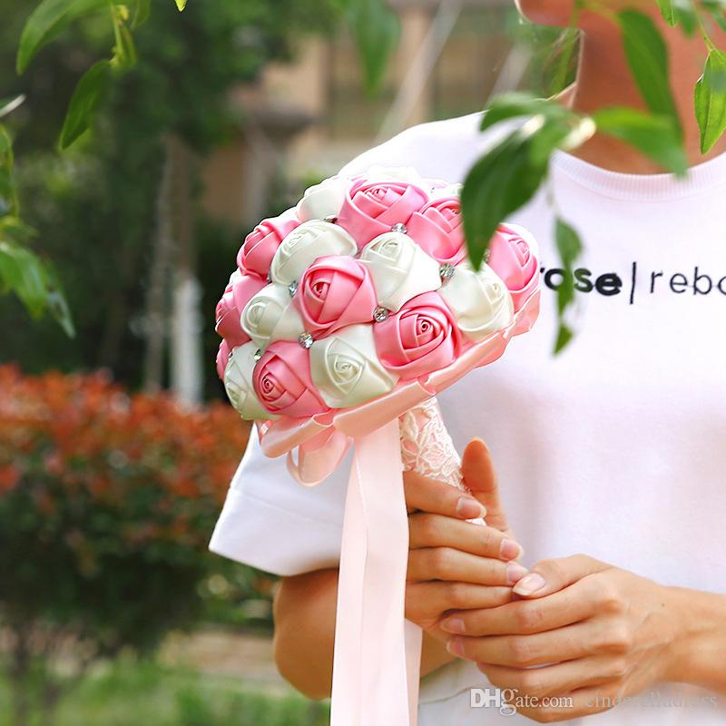 Studio Wedding Photo Simulation Holding Flowers Wedding Bouquets Women Country style Bridal Party Gifts Artificial flowers 2018 CPA1587