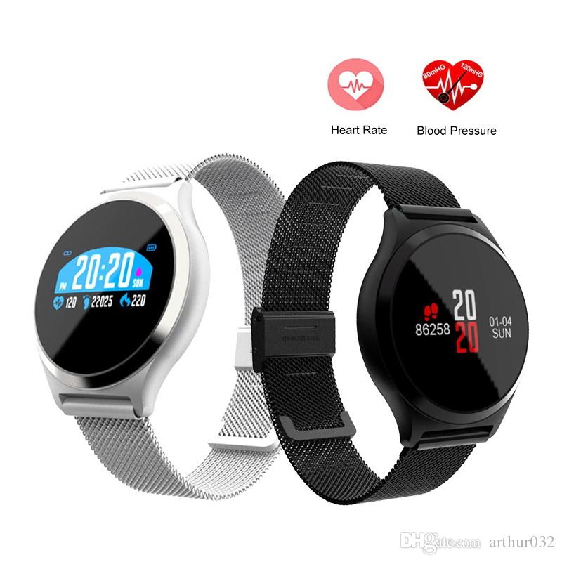 M7/Y7 HR BP Smart Watch Blood Pressure Heart Rate Monitor 0.96'' Colorful Round Screen Sports Fitness Tracker SmartWatch Wristband PK K88H