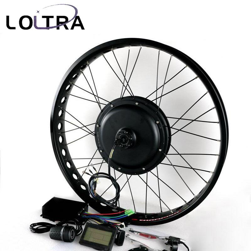 170mm 190mm Rear brushless Non Gear hub motor wheel 26 4 0 Tyre 48V  Electric Fat Bike Conversion Kit Snow Bicycle kit 1000W