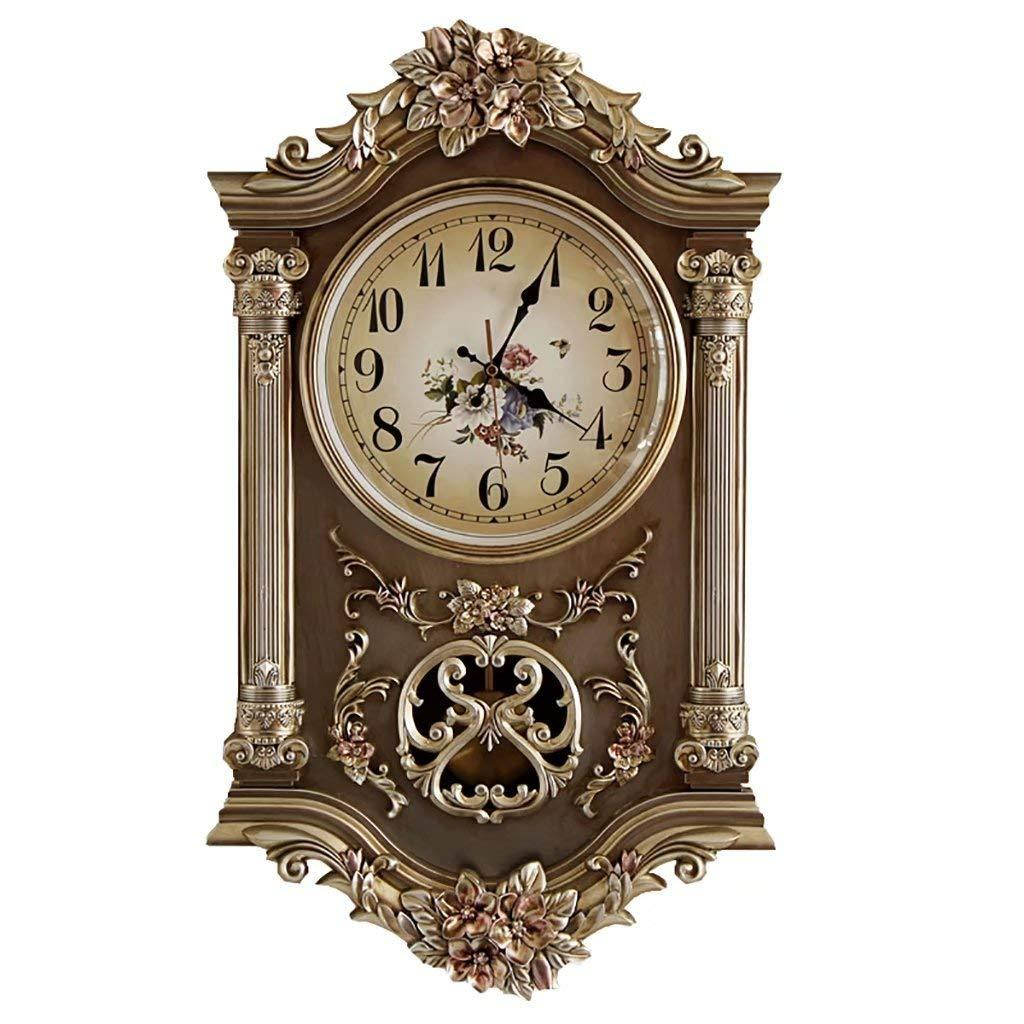 Modern European Wall Clock Retro Creative Home Clock Living Room