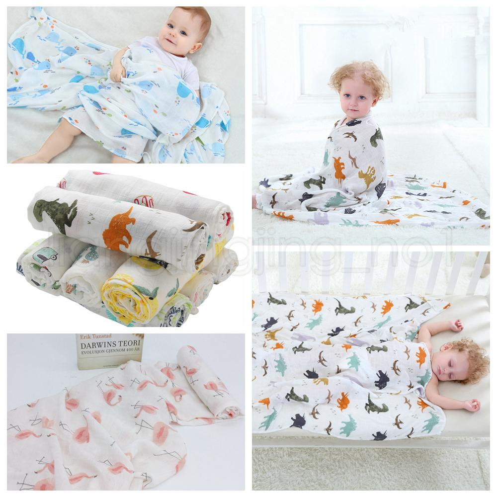40bbf6338c4f 115 115cm 22 Styles Bamboo Cotton Baby Blanket Muslin Swaddle Wrap ...