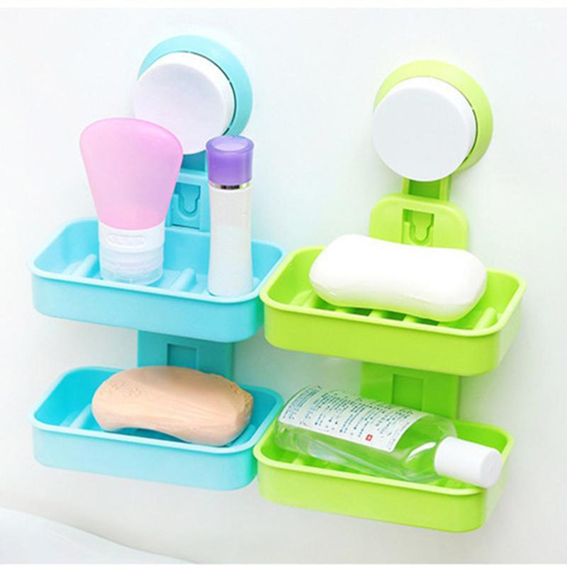 kitchen-tools-bathroom-accessories-wall-mounted.jpg  sc 1 st  DHgate.com & 2018 Kitchen Tools Bathroom Accessories Wall Mounted Soap Holder Two ...