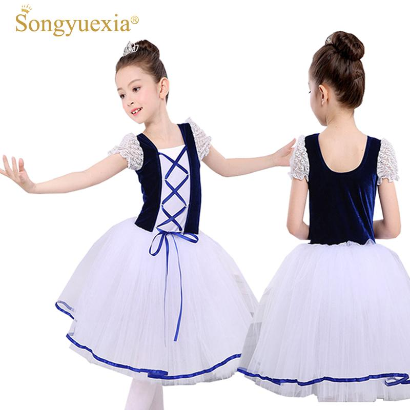 5c7d574bfce3 2019 New Romantic Tutu Giselle Ballet Costumes Girls Child Velet ...