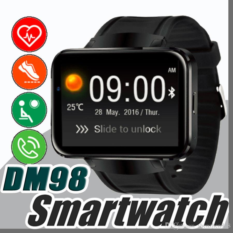 DM98 Smart watch Android 4 4 MTK6572 Dual Core 1 2Ghz 2 2 inch IPS HD  900mAh Battery 512MB Ram 4GB Rom 3G WCDMA GPS WIFI