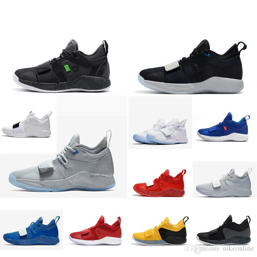 d3d5b1e2efd5 2019 Mens Paul George Basketball Shoes Cool Grey Green Glow Thunder Blue  White Red Playstations New Arrival Pg 2.5 Sneakers For Sale With Box From  ...