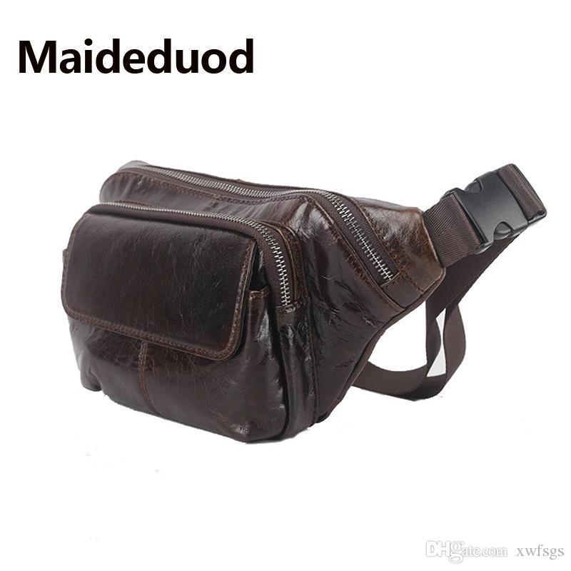 026c1b121b34c Fashion Genuine Leather Waist Bag for Men Fanny Pack Leather Belt ...