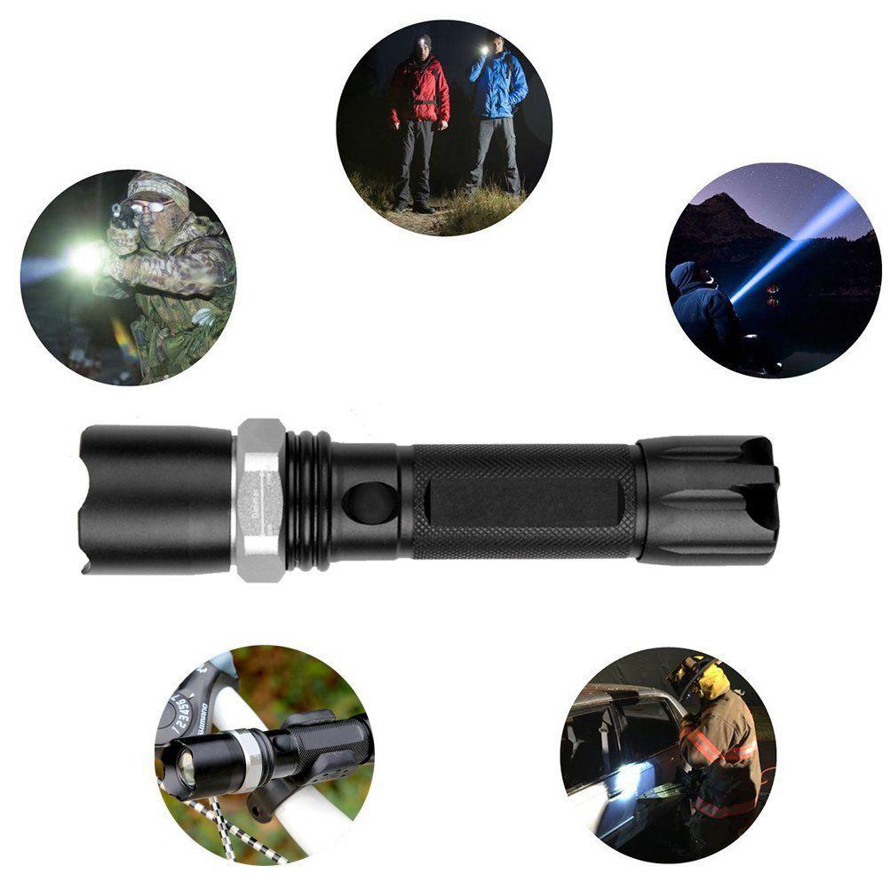 18650 Duvar ve Araç Şarj ile 1000LM Zoomable XM-L T6 LED El feneri Torch Lamba Işık