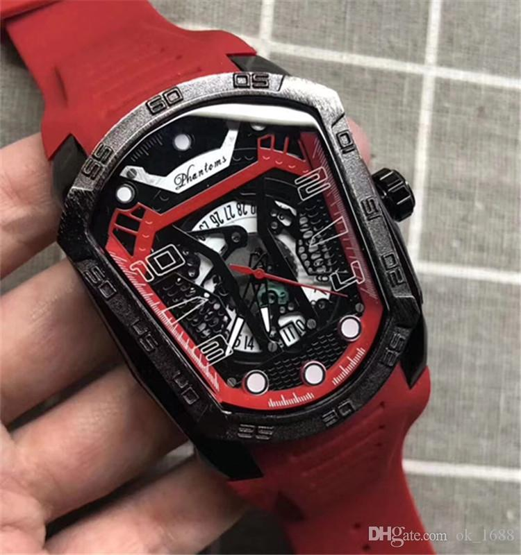 990adae62af Compre 2018 Marca De Luxo Aaa Assista Homens Preto Mostrador Faixa De Borracha  Relógio Esportivo Masculino Relógio Mecânico Automático Exército Militar ...