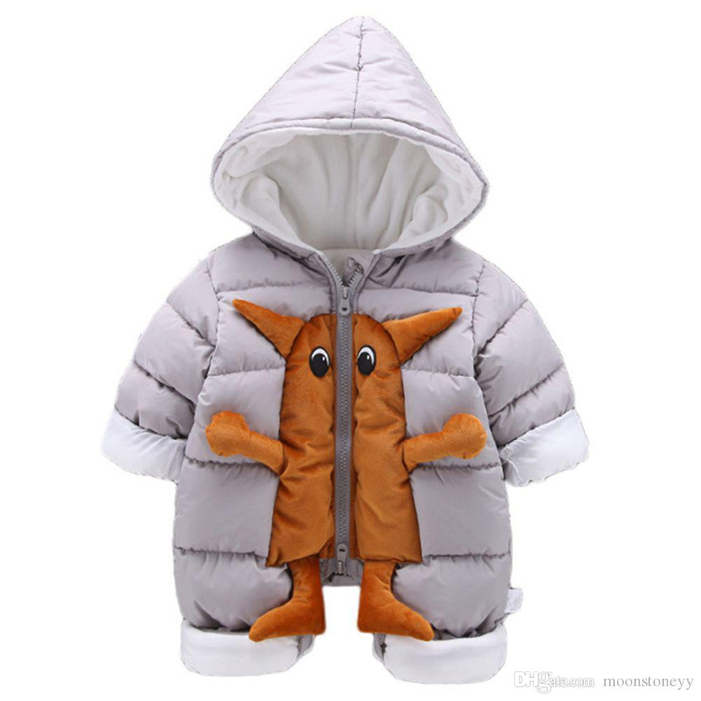 aa9c005ae283 Infant Snow Clothes Cotton Snowsuit Baby Padded Warm Outerwear ...