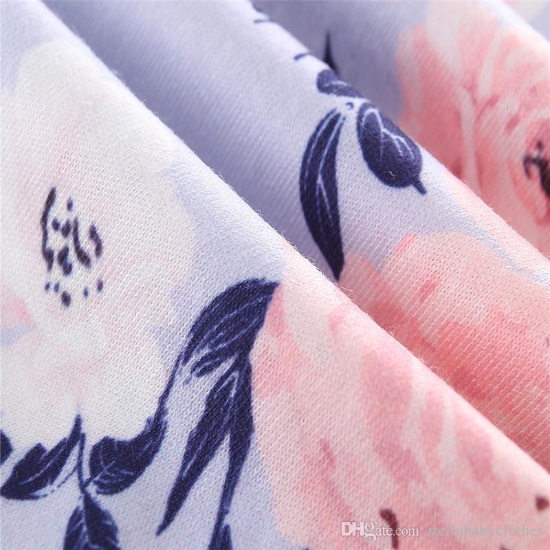 Cute Princess Kids Baby Girls Dress Ruffles Butterfly Sleeve Irregular Tops T shirt and Floral Printed Pants Outfits Set