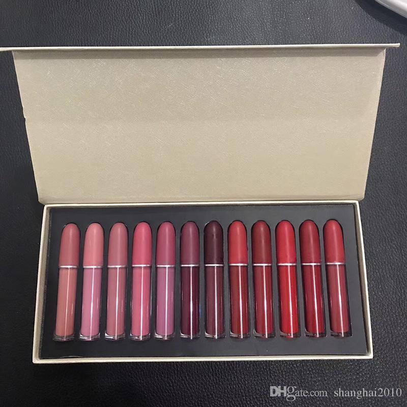 Nueva marca caliente Work It Out Matte Lipstick Collection Set es nombres en inglés Barras de labios DHL envío